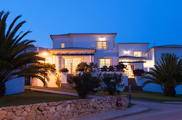 Beautiful Algarve properties at night